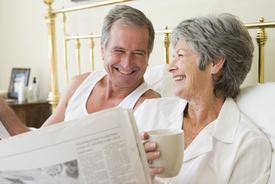 older couple reading Dental Hygiene Tips
