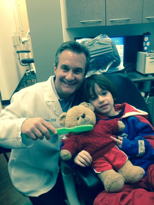 Brayden and Cuddle 500x666 Children's Dental Health Month #SilverstromSmiles Contest
